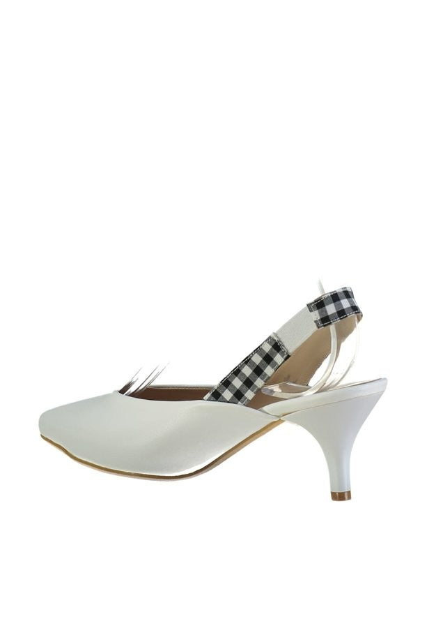 Knish's Heeled White Shoes