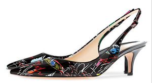 Knish's Graffiti Kitten Heels