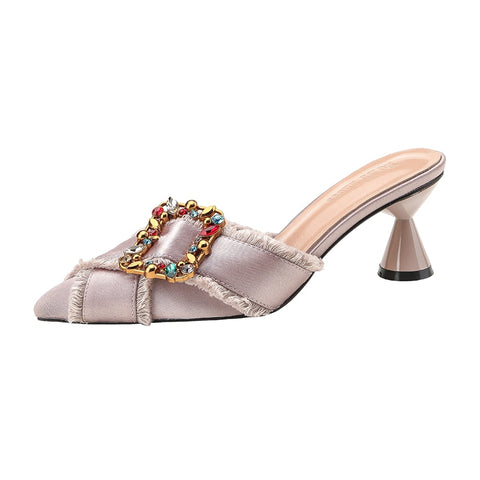 Knish's Fashion Silk Buckle Shoes (BOGO)