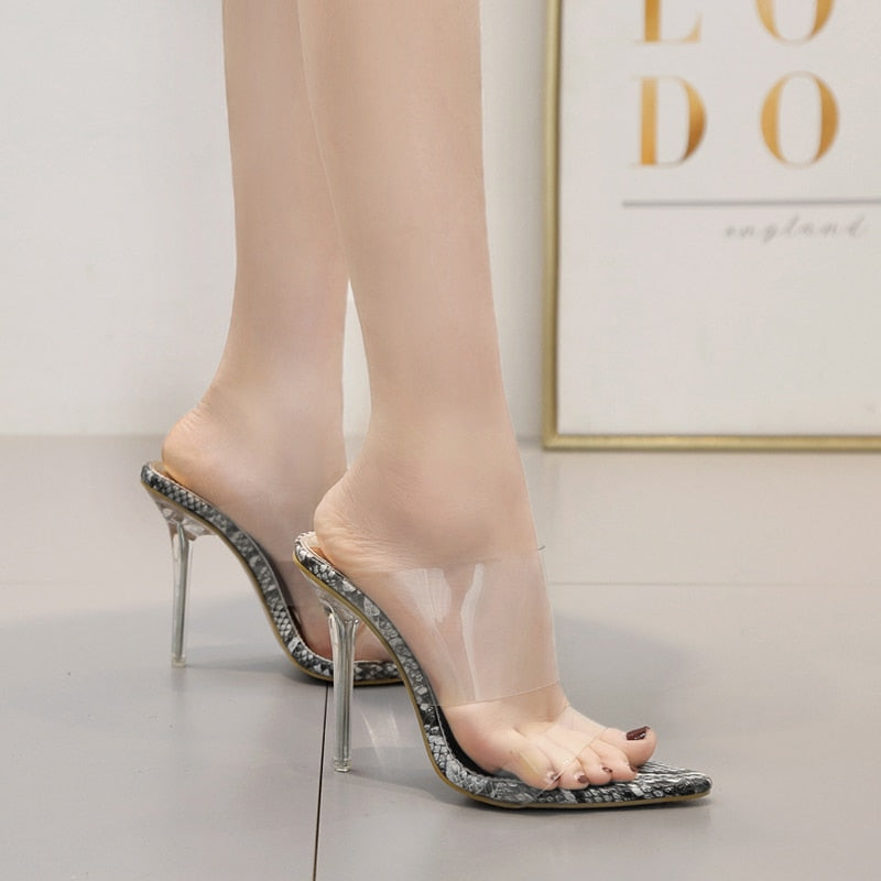 Knish's Transparent Snake Pumps