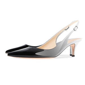 Knish's Patent Leather Pointed Slingback