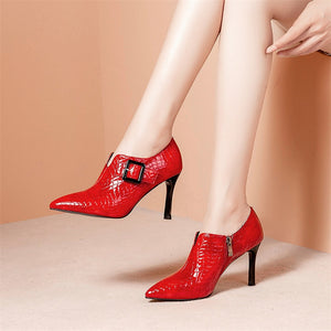 Thin Heels Buckle Pumps