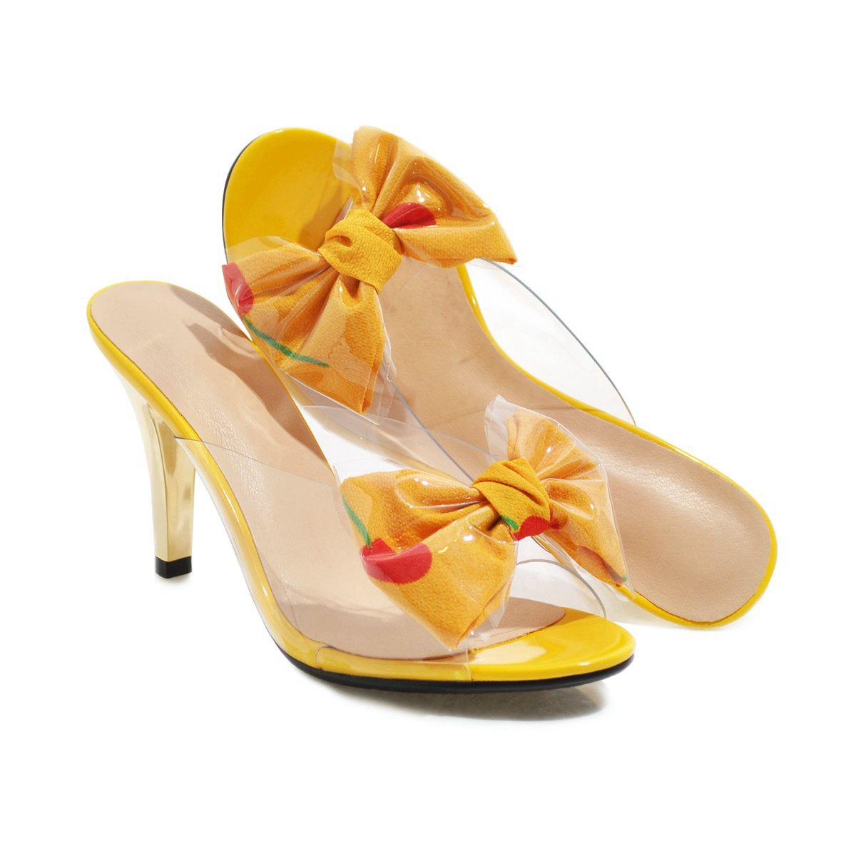 Knish's Slingback Transparent Summer Heel