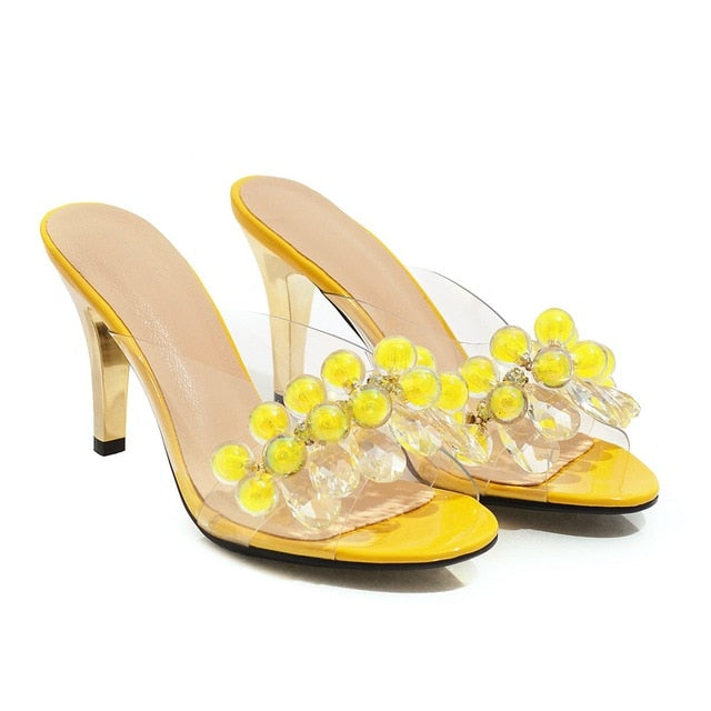 Knish's Slingback Bedazzaled Clear