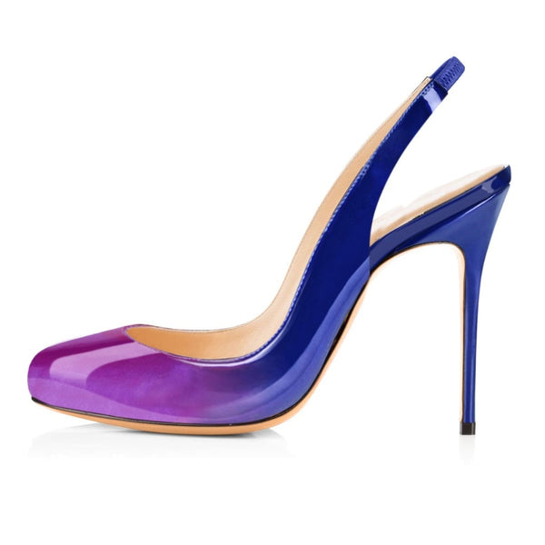 Knish's Round Toe Multicolor Pumps