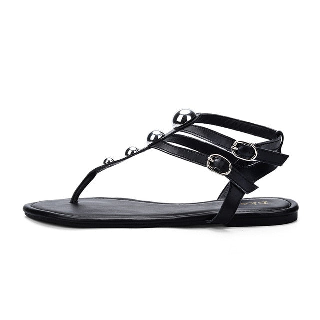 Knish's Leather Gladiator Sandals (BOGO)