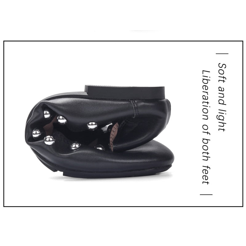Knish's Genuine Leather Super Soft Flats (BOGO)