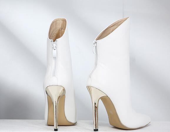 Knish's Gold Heel Ankle Boots
