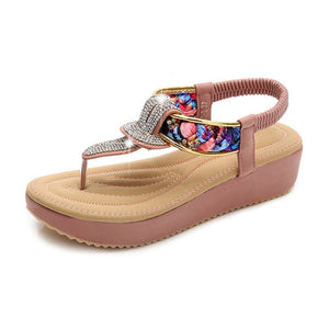 Knish's Ladies Comfortable Crystal Flats