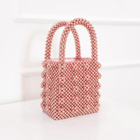 Luxury Pearl Bag Beaded Box Totes