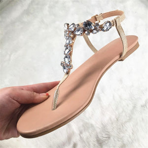 Leisure Quality Crystals Sandals flip&flops