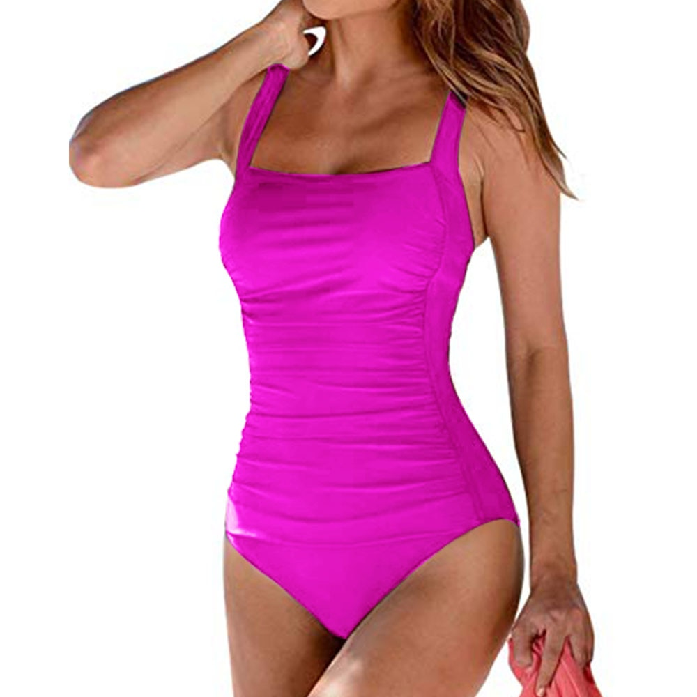One Piece Swimsuit Ruche Tummy Control Plus Size