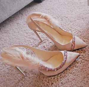 Knish's Crystal Embellished Shoes