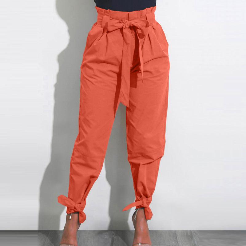 High Waist Harem Pants Belted