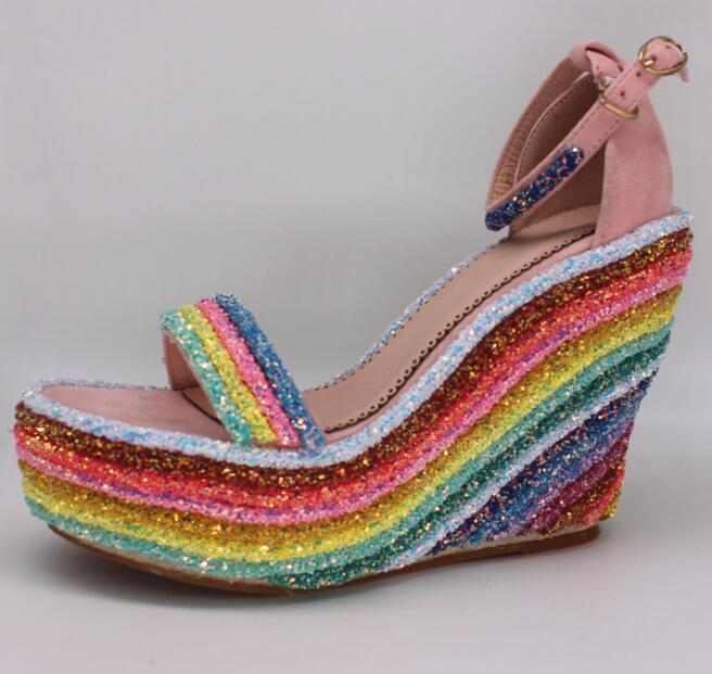 Knish's Rainbow Glitter Wedges