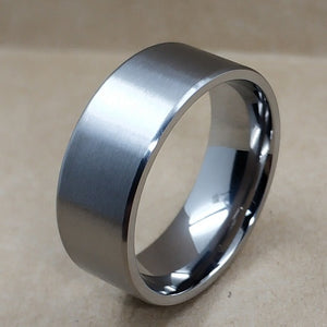 8mm 5mm Pure Titanium Rings