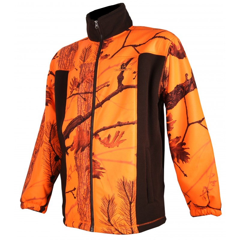 Blouson polaire Somlys camouflage orange - Approche Chasse