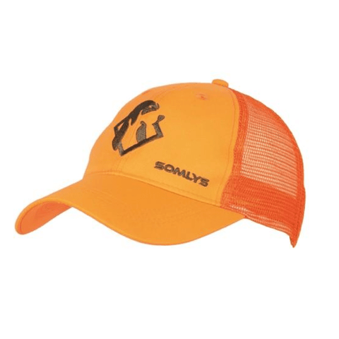 Casquette de chasse orange Somlys maille - Approche Chasse