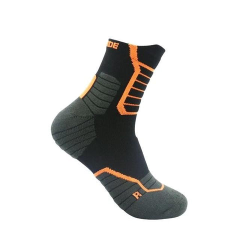 Chaussettes compression UP Grade Sniper noir/orange