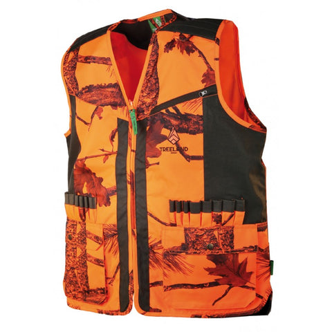 Gilet de chasse orange camouflage TreeLand - Approche Chasse