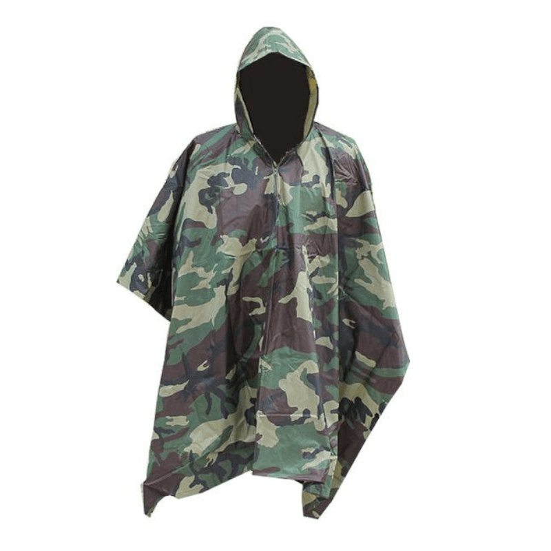 Poncho ripstop ulira-light camo CE multifonction - Approche Chasse