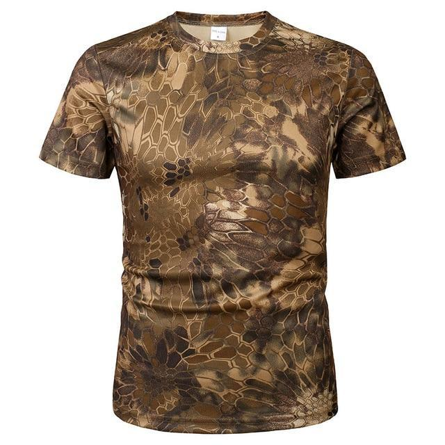 Tee-shirt de chasse Snake Brown respirant - Approche Chasse