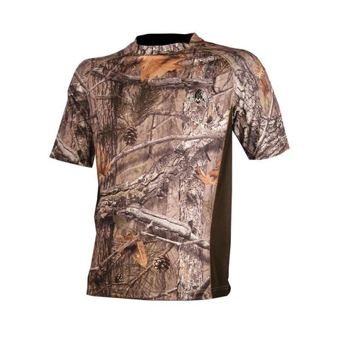 T-shirt anti-transpiration camouflage 3DX - Approche Chasse