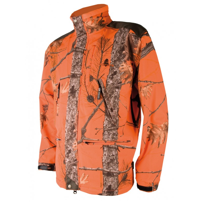 Veste Somlys Softshell camo Fire G4 - Approche Chasse