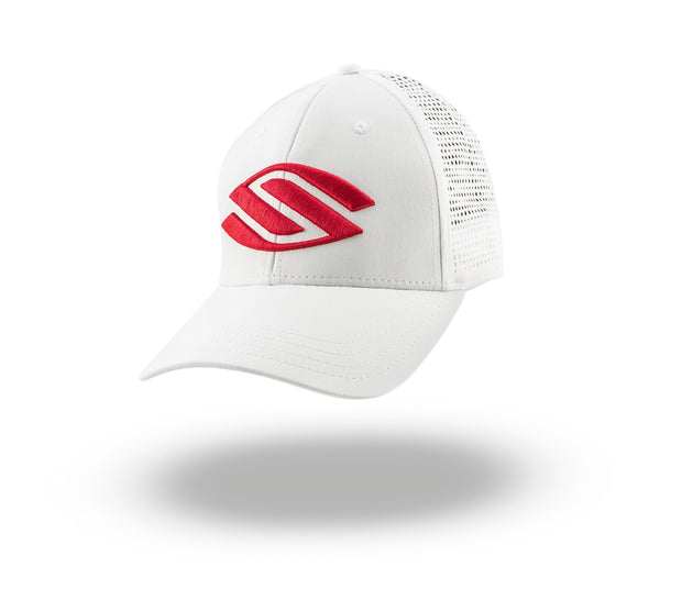 Selkirk Premium Lightweight Red Logo Performance Hat SPF30