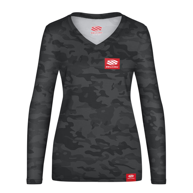 Selkirk Red Label Camo Women's Long Sleeve V-Neck Stretch-Wik Technology
