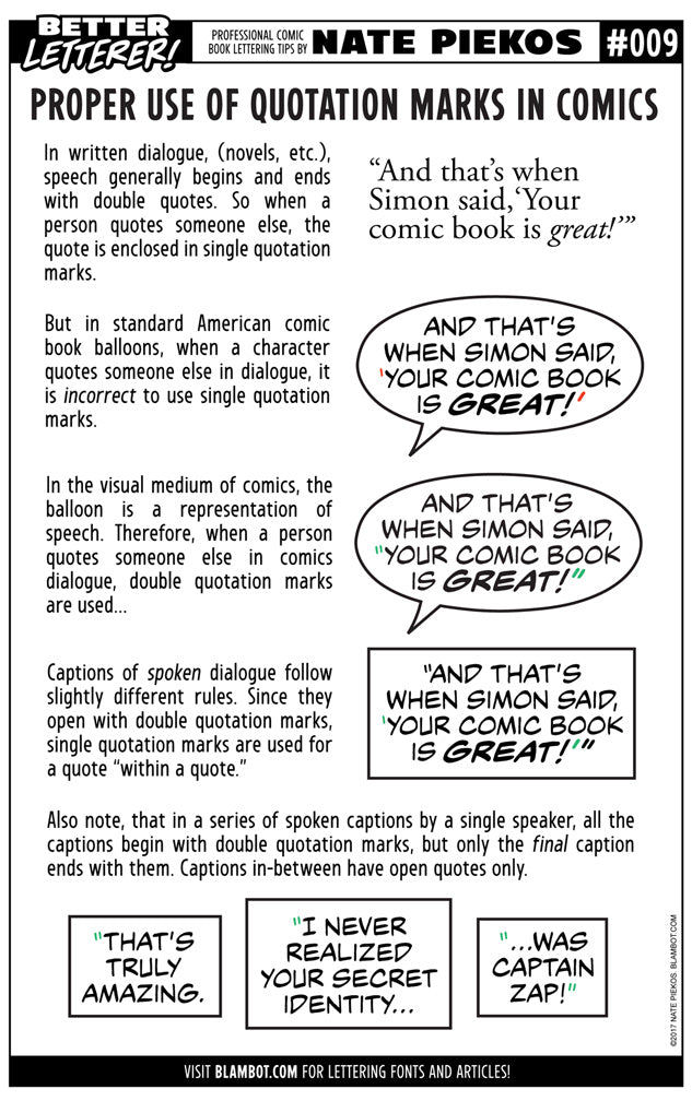 Better Letterer 9: Quotation Marks