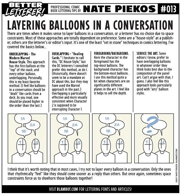 Better Letterer 13: Layering Balloons in a Conversation