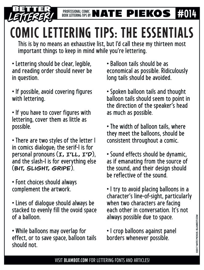 Better Letterer 14: Comic Lettering Essentials