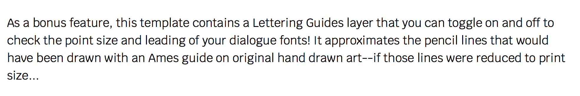 Comic Book Lettering Templates