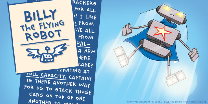 Billy The Flying Robot