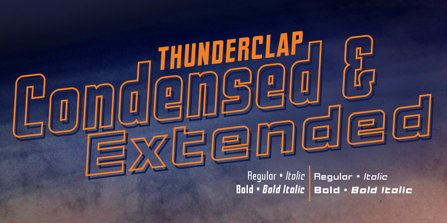 Thunderclap Condensed & Extended