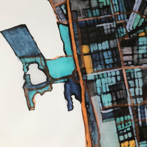 Berkeley, CA - Abstract City Map Art by Carland Cartography