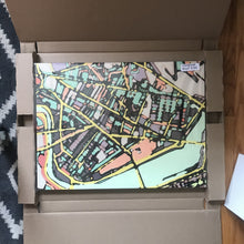 "Load image into Gallery viewer, Cambridge (Green). 18x24"" Canvas Print - Abstract City Map Art by Carland Cartography"