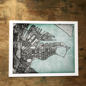 South Boston, MA - Abstract City Map Art by Carland Cartography