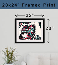 Load image into Gallery viewer, Framed Print - Abstract City Map Art by Carland Cartography