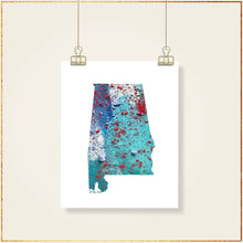 Load image into Gallery viewer, ALABAMA State Map - Abstract City Map Art by Carland Cartography