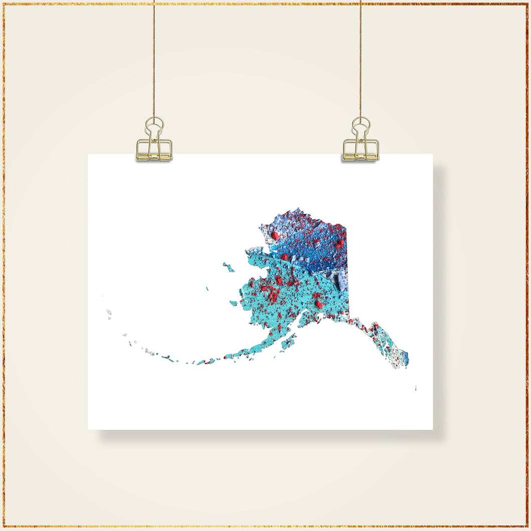 ALASKA State Map - Abstract City Map Art by Carland Cartography