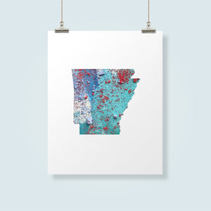 ARKANSAS State Map - Abstract City Map Art by Carland Cartography