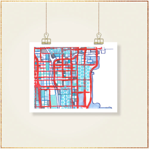 Chicago Loop (Blue) - Carland Cartography