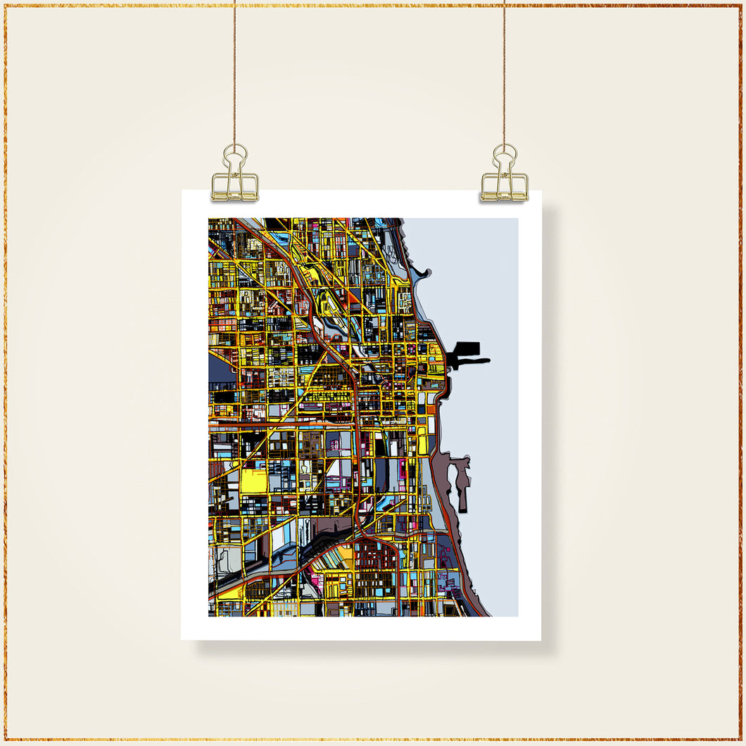 Chicago IL (Vertical) - Carland Cartography