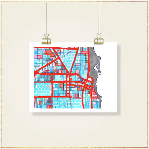 Evanston, IL (Gray) - Carland Cartography