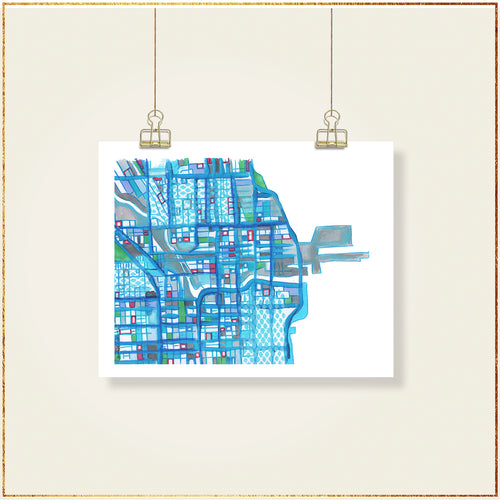 Navy Pier, Chicago (Blue) - Carland Cartography