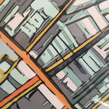 "Load image into Gallery viewer, Boston South End. 20x30"" Canvas Print - Abstract City Map Art by Carland Cartography"
