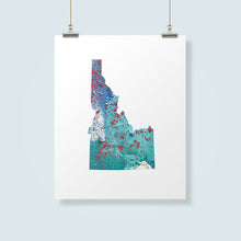 Load image into Gallery viewer, IDAHO State Map - Abstract City Map Art by Carland Cartography