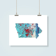 Load image into Gallery viewer, IOWA State Map - Abstract City Map Art by Carland Cartography